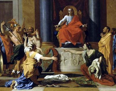 Juicio de Rey Salomón sobre maternidad de un niño