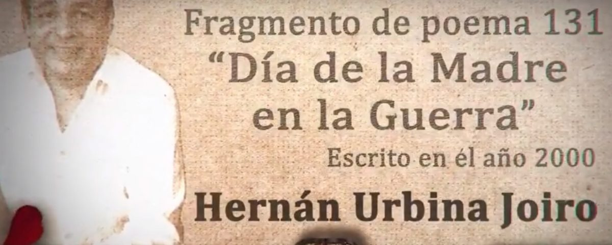 """Urbina Joiro recita fragmento de """"Día de la madre en la guerra"""" (2000)"""