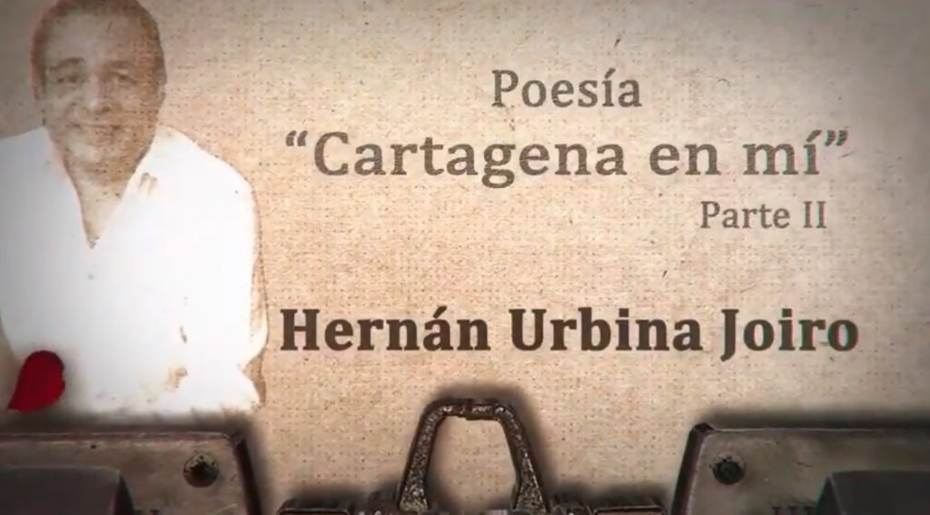 Hernán Urbina Joiro poeta en Cartagena