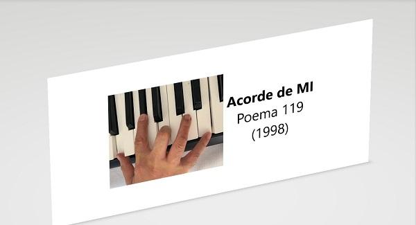Acorde de MI Poesía Hernán Urbina Joiro 1998