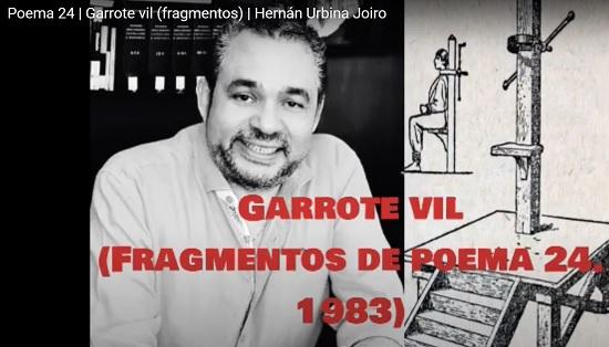 Hernán Urbina Joiro Poema Garrote vil 1993