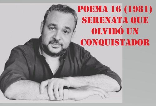 Urbina Joiro Poema Serenata que olvidó un conquistador 1981