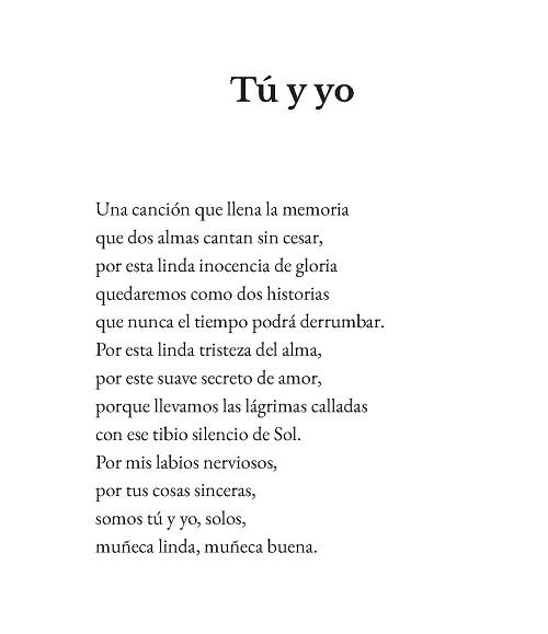 Hernán Urbina Joiro Poema 15 Tú y yo