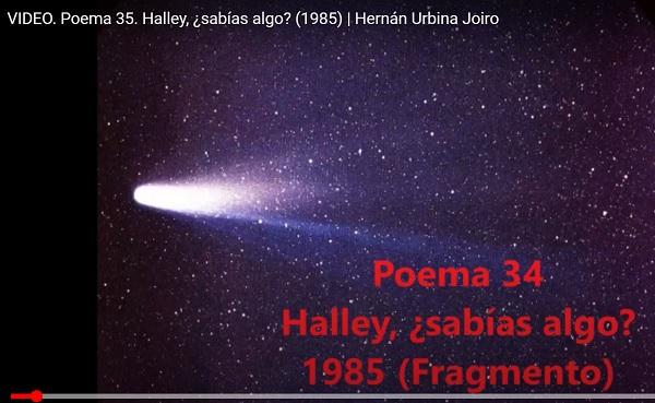 Hernán Urbina Joiro Poema Halley sabías algo 1985