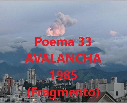 Hernán Urbina Joiro Poema Avalancha 1985 Fragmento
