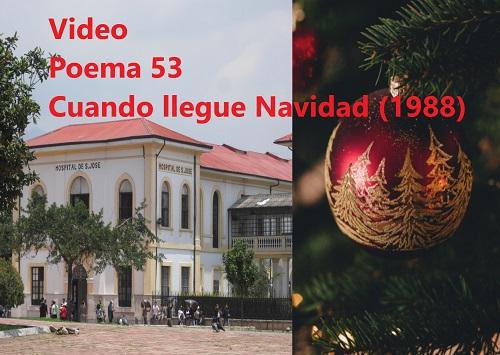 Urbina Joiro Poema 53 Cuando llegue Navidad 1988