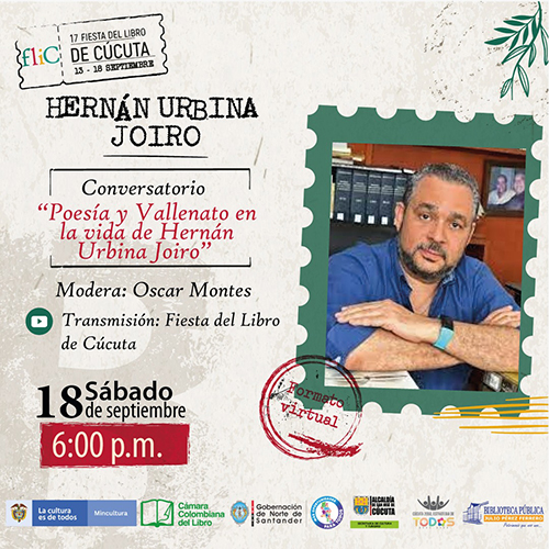 Hernán Urbina Joiro Fiesta del Libro Cúcuta 2021
